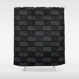 Abstract Geometric Typography Grid Shower Curtain