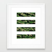 camo Framed Art Prints featuring Camo by angelasoto