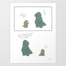 You'd better not pout  Art Print