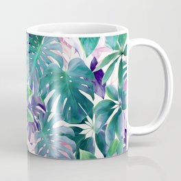 Pastel Summer Tropical Emerald Jungle Coffee Mug