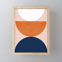 Abstraction_Balance_Minimalism_001 Framed Mini Art Print