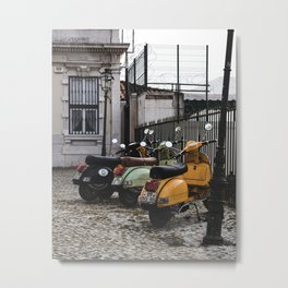 Pack of Vespas Metal Print