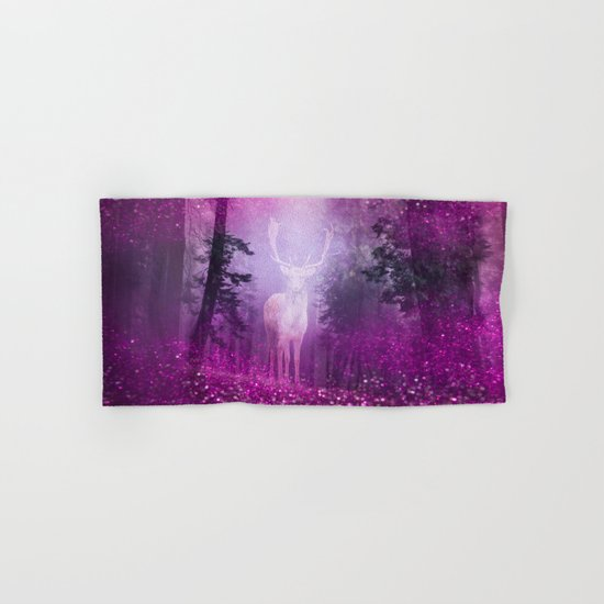 Fairy deer out of the woods Hand & Bath Towel