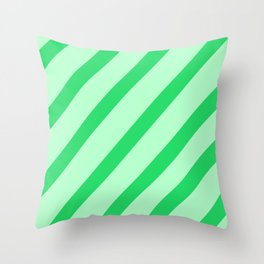 Leaf Stripes Throw Pillow