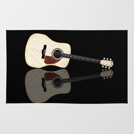Pale Acoustic Guitar Reflection Rug