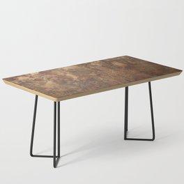N47 - Golden Antique Rustic & Farmhouse Vintage Texture Coffee Table