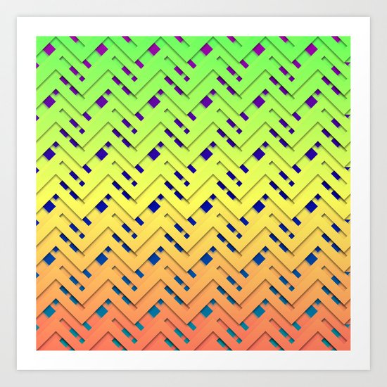 Layered Chevrons Art Print