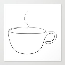 coffee or tea cup - line art Canvas Print