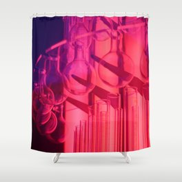 Pink Glass Shower Curtain
