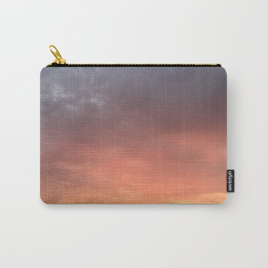 Yellow Red and Gray Sky Carry-All Pouch
