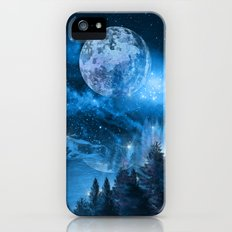 Night forest iPhone SE Slim Case