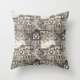 Steampunk Industry Throw Pillow