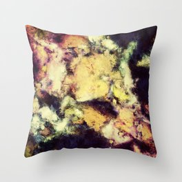 Crumbling sky Throw Pillow
