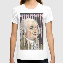 Pink Drip John Adams T-shirt