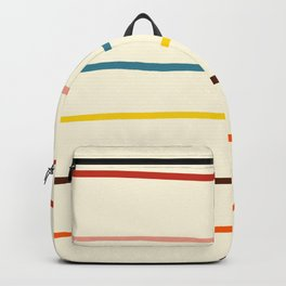 Abstract Retro Stripes #2 Backpack
