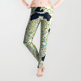 Trenton - modern minimal abstract painterly palette urban brooklyn cali city beach painting dorm  Leggings