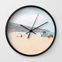 Redondo Beach // California Ocean Vibes Lifeguard Hut Surfing Sandy Beaches Summer Tanning Wall Clock
