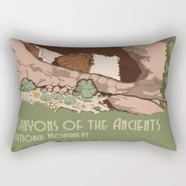 USA national park poster-canyons ot the ancients colorado Rectangular Pillow