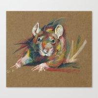 rat Canvas Prints featuring Rat by Nuance