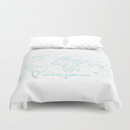 Where We've Been, World, Icy Blue Duvet Cover