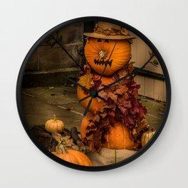 Halloween-pumkin Wall Clock