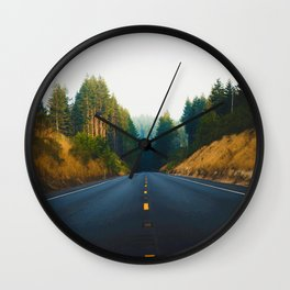The Road Again (Color) Wall Clock