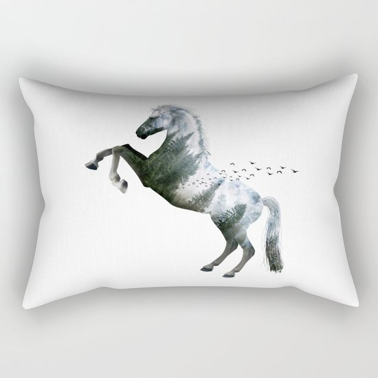 Horse landscape Rectangular Pillow