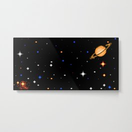 Deep  Dark  Space Metal Print