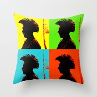popart Throw Pillows featuring Popart punk by Kathleen Schulze