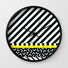 Memphis pattern 88 Wall Clock