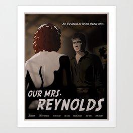 Our Mrs. Reynolds Art Print