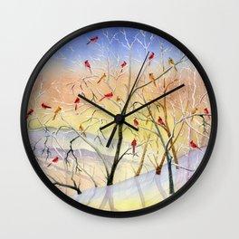 Winter Song Wall Clock