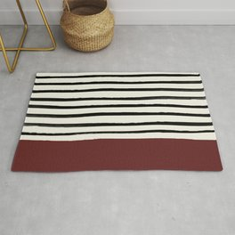 Dark Ruby & Stripes Rug