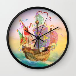 The Dreamship Gallivant Wall Clock