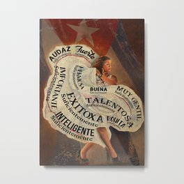 Native American Poster Puerto Rican Woman I Am Enough Metal Print