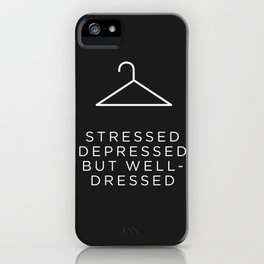 Well Dressed (Black) iPhone Case