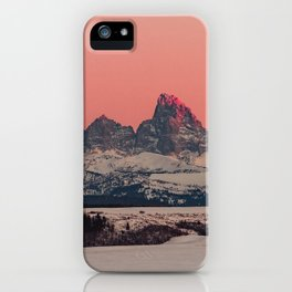 SUNSET AT THE GRAND TETONS iPhone Case