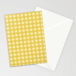 Mustard Yellow Buffalo Checks Stationery Cards