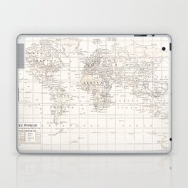 Vintage Cream and White Laptop & iPad Skin