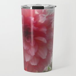 Pretty Pink Dahlia Ruffles Travel Mug