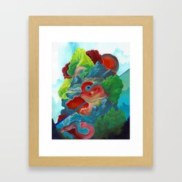 The story we kept telling of life has become its own distant mass Framed Art Print