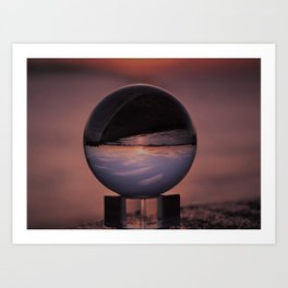 Wispy Clouds In A Crystal Ball Art Print