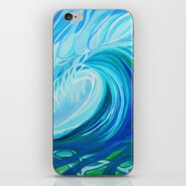 Turquoise Swell iPhone Skin
