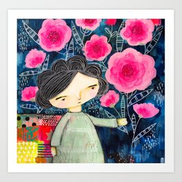 Quilted Princess Art Print