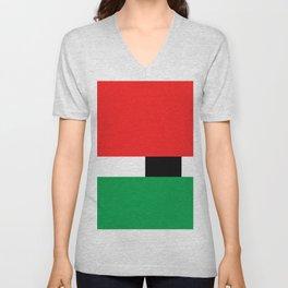 Xmas Color Santa Claus Colour3 Unisex V-Neck