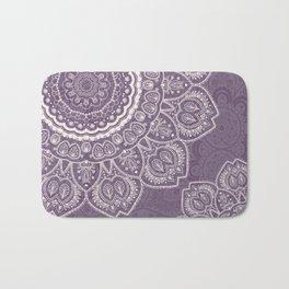 Mandala Tulips in Lavender ad Cream Bath Mat
