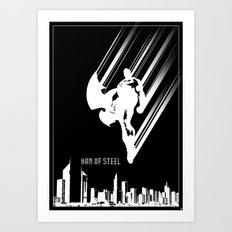 Superman Man of Steel Poster Art Print
