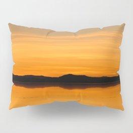 Sunset Salar de Uyuni 5 - Bolivia - Landscape and Rural Art Photography Pillow Sham