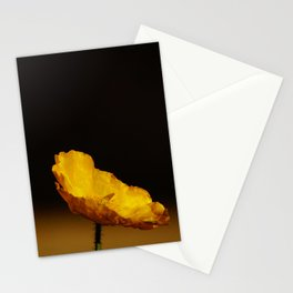 Lonely yellow poppy flower - Minimalist nature photography Stationery Cards