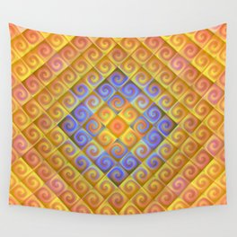 Spirals in Squares Wall Tapestry